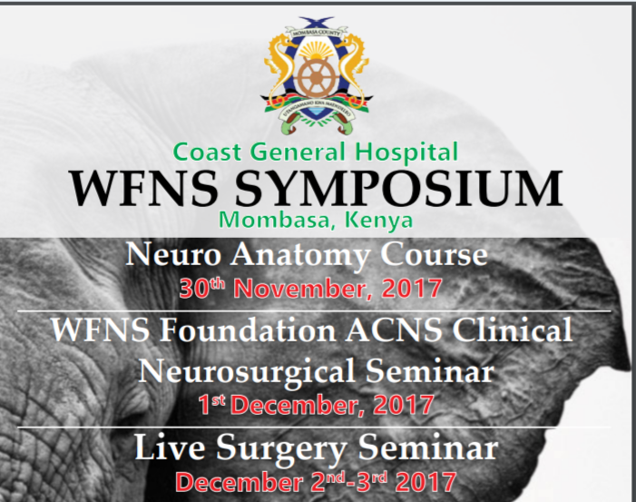 Africa Neurosurgery Conference Mombasa Kenya December 2017