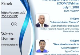 """ACNS Young Neurosurgeon's Presents """"Neurosurgery Super Sunday"""" at 5 pm IST with Deopujari and Cherian"""