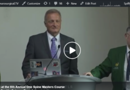 We're live at the 6th Annual One Spine Masters Course
