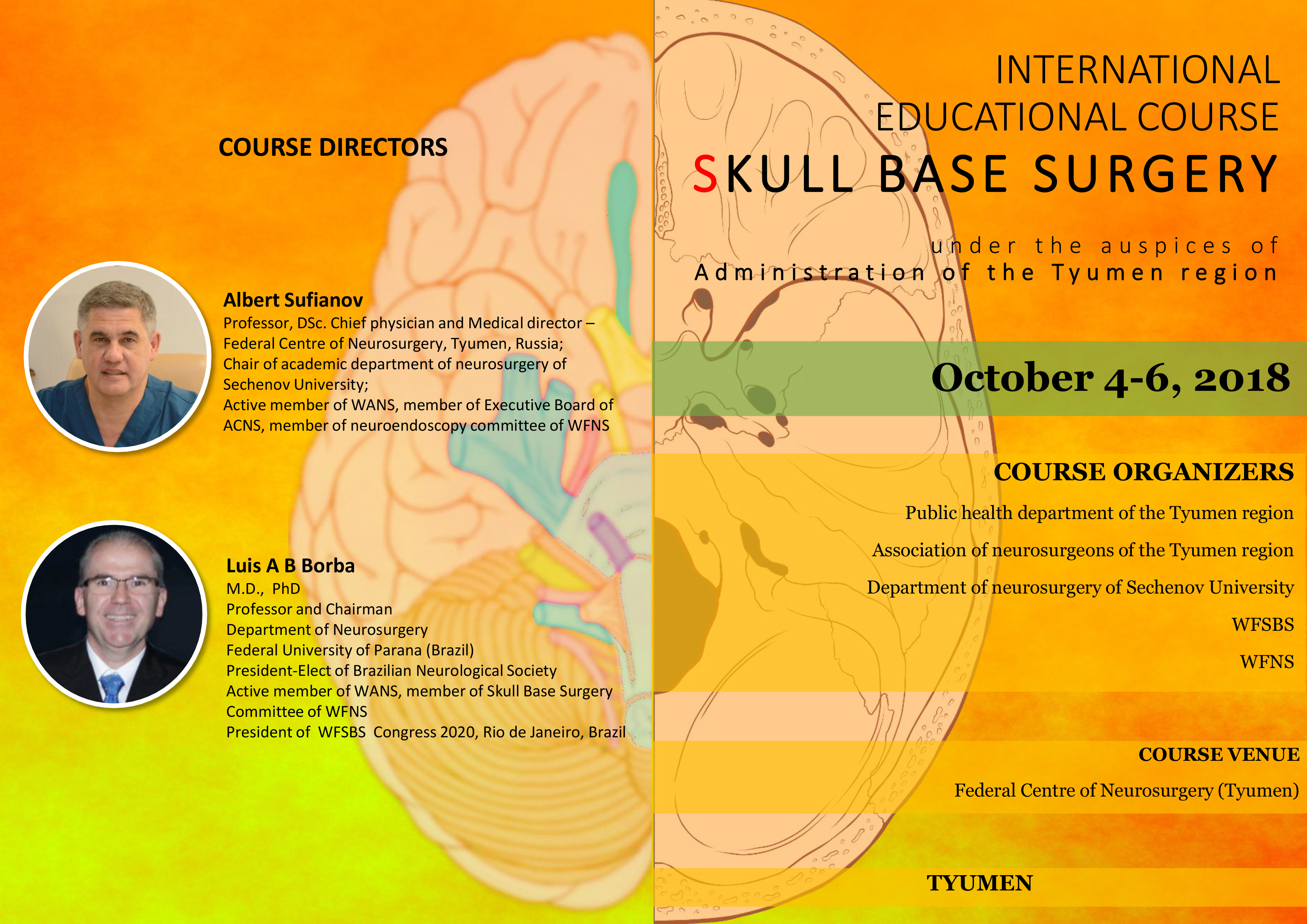 Russia Skull Base Surgery Conference Day #1 Recorded HERE Oct 4, 2018
