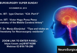 Neurosurgery Super Sunday November 24, 2018 Broadcasts LIVE NOW