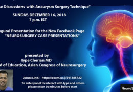 RECORDED TODAY:  Two Webcasts: Normal Pressure Hydrocephalus Presentation and Iype Cherian Case Presentations of Aneurysms