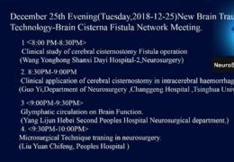 "First Chinese Neurosurgery Webcast, in Chinese, for ""Cisternostomy"" Recorded LIVE"