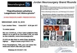 "Jordan Neurosurgery Grand Rounds June 26, 2019, yesterday's ""Sphenoid Sinusitis: A Rare Case"""