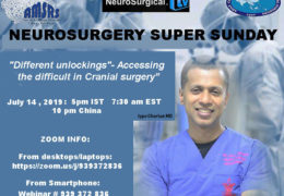 "Neurosurgery Super Sunday Recorded Sunday: ""Different Unlockings"""