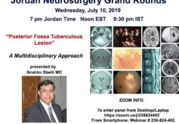 Jordan Neurosurgery Grand Rounds LIVE HERE ONLINE, NOW, HERE LIVE