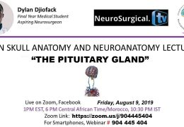 "LIVE Webcast Friday 6 pm Cameroon Africa Time, 1 pm EST, 9:30 pm IST: ""The Pituitary Gland"", with Dylan Djiofack presenting…"