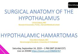 "Dr. Dieu Kabulo from the Republic of the Congo, presented ""Hypothalamic Hamartomas"" on Sept 13, 2019"