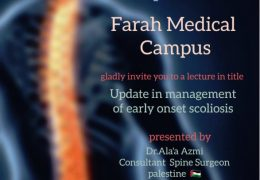 Jordan Spine Society had LIVE Webcast yesterday, of Dr. Ala'a Azmi Ahmed, noted Spine Master; see recording, HERE………