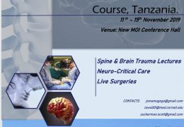 Televising Neurotrauma Conference from Tanzania Nov 11 to 15th, 2019, LIVE, HERE, at 8:00 am Tanzania time