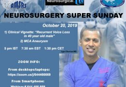 Neurosurgery Super Sunday NOW LIVE HERE, with two presenations by Iype Cherian MD