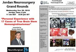 Jordan Neurosurgery Grand Rounds, NOW LIVE HERE