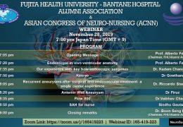 Japan Neurosurgery Symposium Thursday 7 pm Japan time, 3:30 pm IST