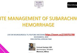 "NOW LIVE  NOW LIVE  Presentation by the Future Neurosurgeons of Africa, ""Acute Management of Subarachnoid Hemorrhage"""