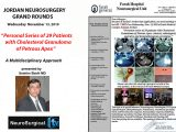 Jordan Neurosurgery Grand Rounds, 6 pm Jordan time, LIVE, HERE, ONLINE