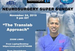 "See yesterday's Recorded LIVE Neurosurgery Super Sunday: Iype Cherian MD, presented, ""The Translab Approach"", in Interactive Setting"
