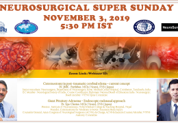 See edited LIVE Videos of Neurosurgery Super Sunday, Nov 3, 2019, with Presentations by Jutty Parthiban and Iype Cherian