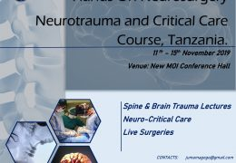 "African Neurosurgery Conference, ""Neurotrauma and Critical Care Course"" televised LIVE, HERE, Monday, Nov 11 to 15"