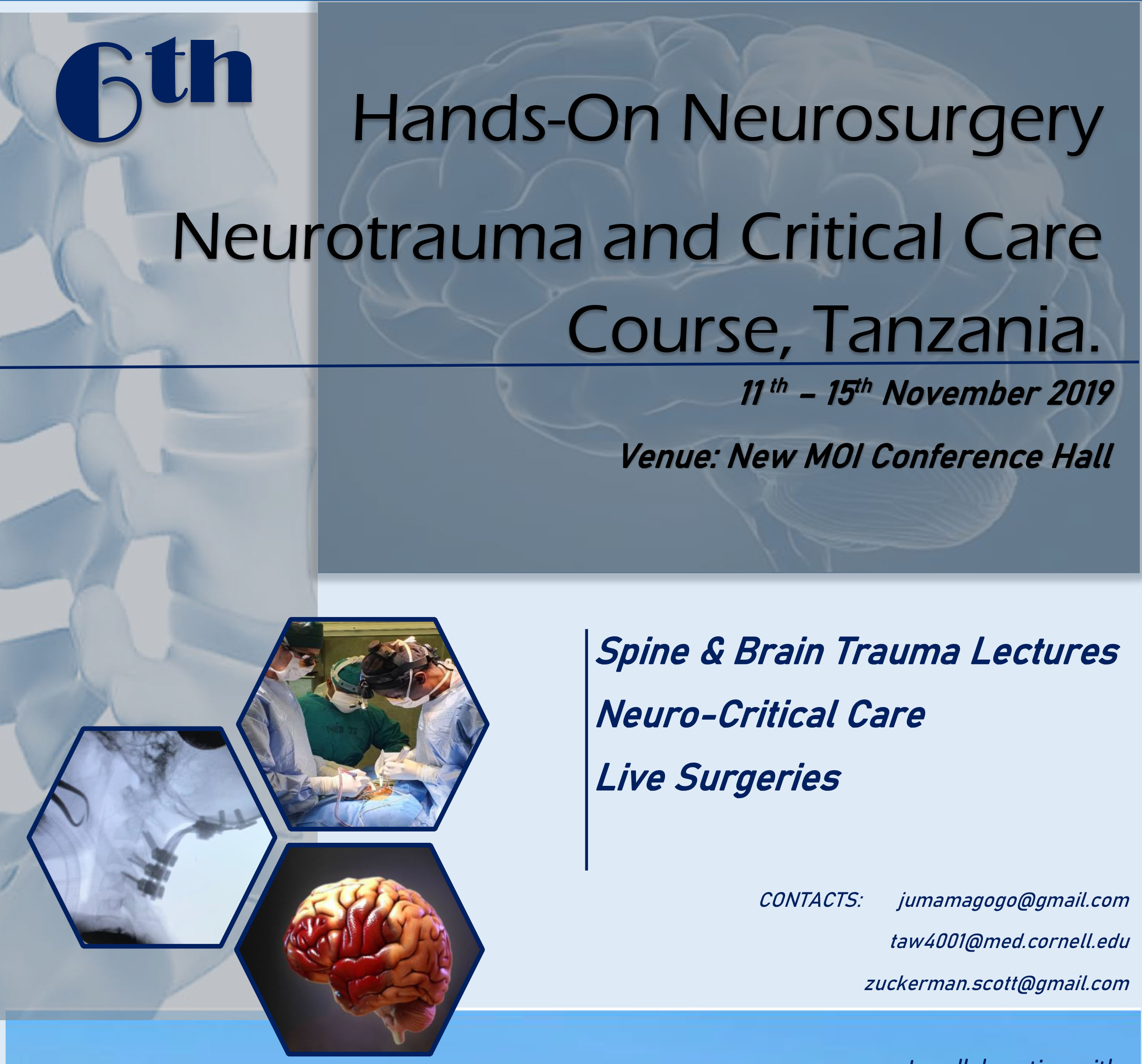 "Day #4 of Tanzania Neurotrauma Conference, ""Live Surgery"", HERE, ONLINE, NOW!"