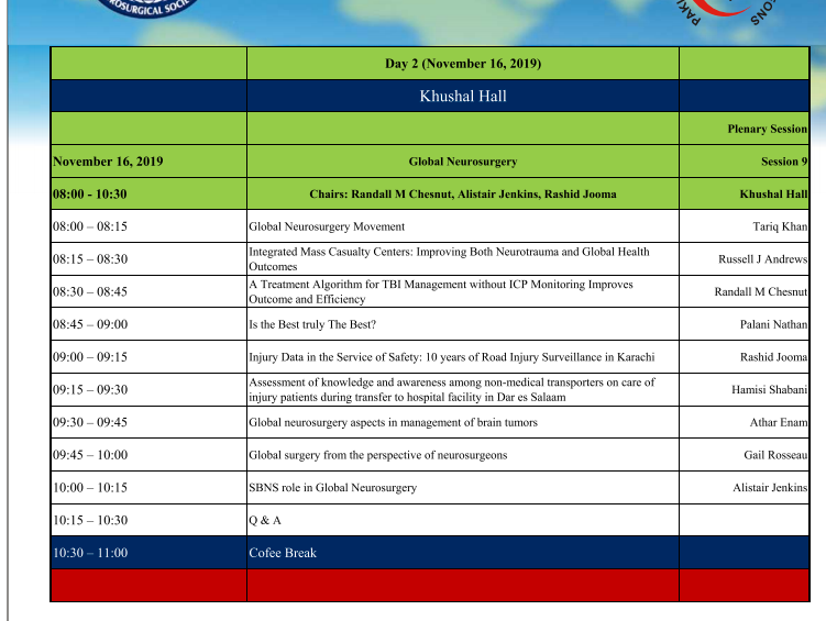 DAY #2: ICRAN PAKISTAN: FULL SCHEDULE TODAY