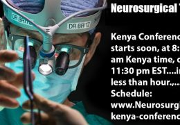 NOW, ……LIVE HERE LIVE HERE…..from Nyeri, Kenya …..Neurosurgery Conference WFNS, see SCHEDULE HERE…….