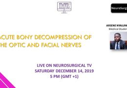 NOW LIVE HERE, NOW …Young Africa 0n Neurosurgeons have their weekly Webcast at 5 pm Cameroon time, 11 a.m. EST