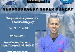 "Neurosurgery Super Sunday, ""Improved Ergonomics of Neurosurgery""  LIVE today, recorded here…."