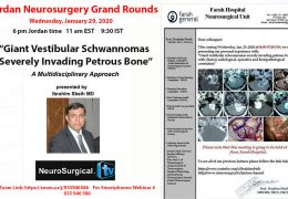 Jordan Neurosurgery Grand Rounds LIVE HERE, now RECORDED