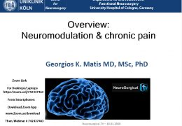 Saturday, 8 am EST, 3 pm CET, Webcast on Neuromodulation, with Georgios Matis presenting