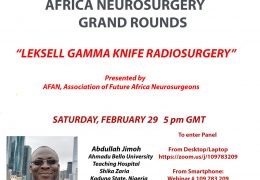Africa Neurosurgery Grand Rounds Feb 29, 2020 LIVE HERE in a few minutes