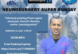 Neurosurgery Super Sunday, with Iype Cherian Presenting LIVE, ONLINE In Less than 3 Hours, LIVE, HERE