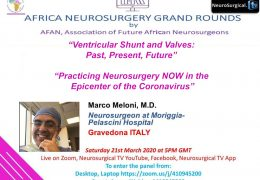 LIVE, in less than HOUR, AFRICA NEUROSURGERY GRAND ROUNDS, with two presentations LIVE HERE