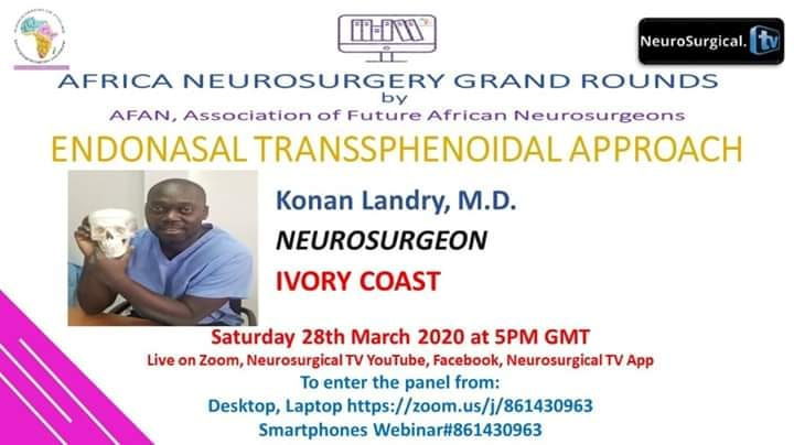 Africa Neurosurgery Grand Rounds LIVE HERE in a few minutes…..