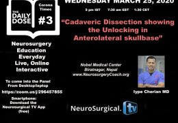 Daily Dose #3 of Neurosurgery Education During Corona Times/Increasing Isolation
