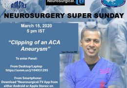 Neurosurgery Super Sunday NOW, ONLINE, LIVE at 5 pm IST with Iype Cherian MD of NeurosurgeryCoach.org