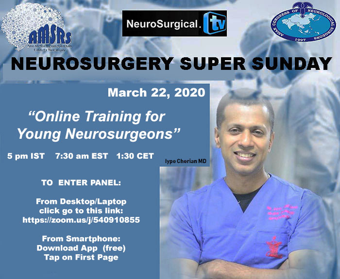 Neurosurgery Super Sunday, LIVE, HERE in few minutes…..