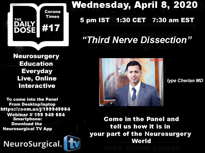 Daily Dose of Neurosurgery Education, #17 LIVE ONLINE