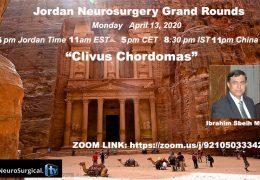 Jordan Neurosurgery Grand Rounds Restarts: Dr Ibrahim Sbeih presents