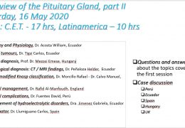 """""""Overview of the Pituitary"""", by Spanish Neurosurgery Community, led by Carlos Llumiguano, of Ecuador and Spain Saturday 5 pm CET"""