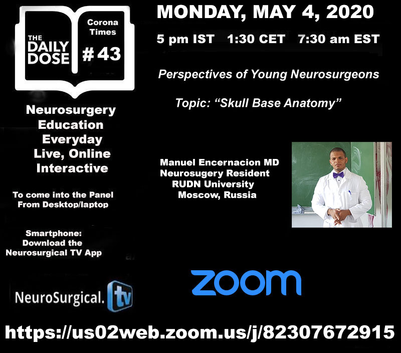 Daily Dose #43 of Neurosurgery Education, with Russian Neurosurgery Resident Presenting….