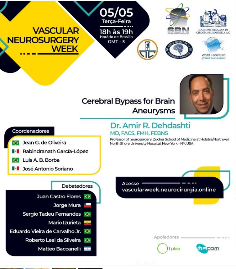 Day #2 of Neurovascular Brazil Webinar LIVE ONLINE HERE, with