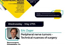 Wednesday, 5 pm EST, Brazil Neurosurgery Society presents Peripheral Nerve Week, with Eric Zager, Neurosurgeon from Philly, presenting