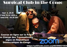 Surgery Club of the Congo presents Thrusday 2 pm EST, 7 pm Congo time: In French, webinar on Trauma