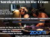 """Monday, 7 pm West Africa time, """"The Surgical Club of the Congo"""" presents """"Evaluacion Secondaire D'Un Patient Traumatise"""""""