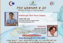 "Pakistan Neurosurgery Society presents ""Endoscopic Post Fossa Surgery"", by John Lee MD"