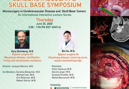 LIVE NOW, Moya Moya Symposium at University of Miami, with Gary Steinber MD of Stanford, and Bin Xu of Shanghai presenting