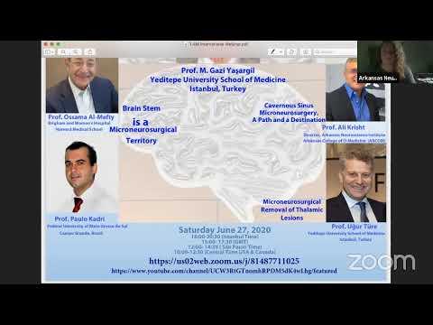 Micro-Neurosurgery: Past Present, Future, with Prof. Yasargil/Arkansas Neuroscience Institute at 11 am EST, Saturday, 6 pm Istanbul