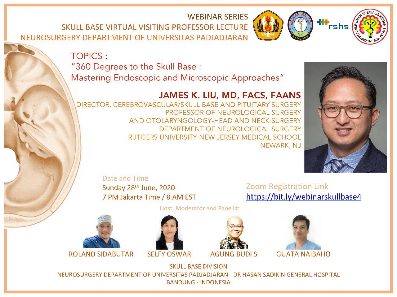 "IN Less than 30 Minutes, James Liu MD of Rutgers speaks about ""360 Degrees to the Skull Base"""