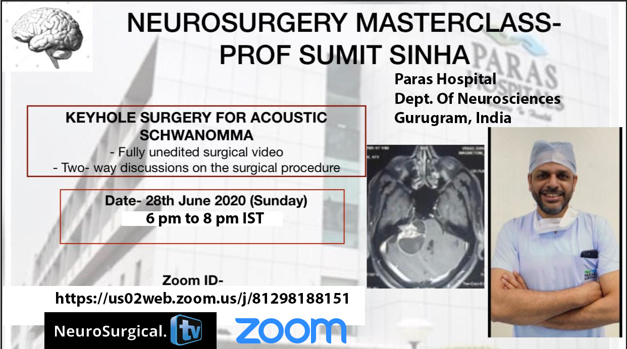 Sunday, Interactive Masterclass LIVE, 6 pm IST with review of situations, steps, procedures while reviewing Operative Videos of