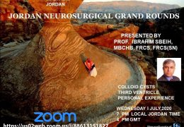 Jordan Neurosurgery Grand Rounds NOW LIVER July 1, 2020